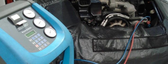 a car having its aircon regassed
