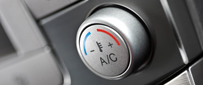 a car air conditioning knob